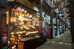 Αραβικό εσωτερικό κατάστημα αναμνηστικών Στοκ φωτογραφίες με δικαίωμα ελεύθερης χρήσης
