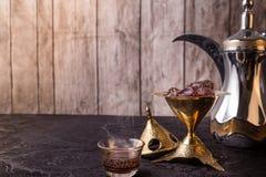Αραβικό θέμα καφέ Στοκ φωτογραφία με δικαίωμα ελεύθερης χρήσης