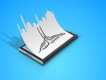Αραβικό ισλαμικό καλλιγραφικό κείμενο Eid Μουμπάρακ Στοκ Εικόνα