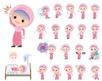Αραβικό κορίτσι για την ασθένεια διανυσματική απεικόνιση