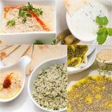 Αραβικό Μεσο-Ανατολικό κολάζ τροφίμων Στοκ εικόνες με δικαίωμα ελεύθερης χρήσης