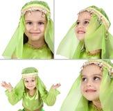 αραβικό ντυμένο κορίτσι λί&ga Στοκ Φωτογραφία