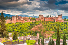Αραβικό παλάτι Alhambra Στοκ Φωτογραφίες