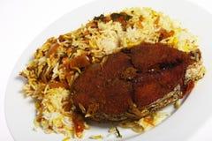 αραβικό πιάτο majboos ψαριών στοκ εικόνες με δικαίωμα ελεύθερης χρήσης