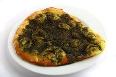 αραβικό πρόχειρο φαγητό manakish zatar Στοκ Εικόνα