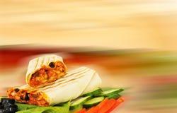 Αραβικό σάντουιτς Στοκ εικόνα με δικαίωμα ελεύθερης χρήσης