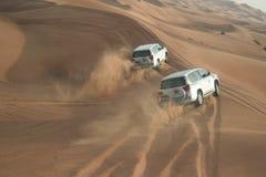 αραβικό σαφάρι εμιράτων ερήμων που ενώνεται Στοκ Φωτογραφίες