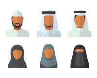 Αραβικό σύνολο ανδρών και γυναικών Στοκ φωτογραφίες με δικαίωμα ελεύθερης χρήσης