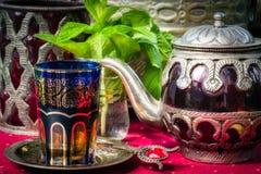 Αραβικό τσάι μεντών Στοκ εικόνες με δικαίωμα ελεύθερης χρήσης