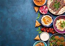 Αραβικό υπόβαθρο πιάτων Στοκ Φωτογραφίες