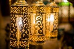 Αραβικό φανάρι χαλκού Στοκ φωτογραφία με δικαίωμα ελεύθερης χρήσης