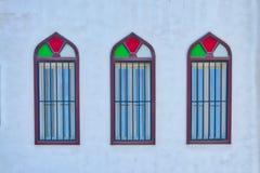 Αραβικό ύφος τρία παράθυρα Στοκ φωτογραφία με δικαίωμα ελεύθερης χρήσης