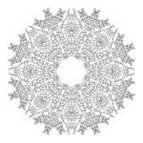 Αραβικό floral mandala διακοσμήσεων Στοκ Εικόνα