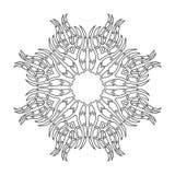 Αραβικό floral mandala διακοσμήσεων Στοκ φωτογραφία με δικαίωμα ελεύθερης χρήσης