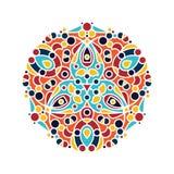 Αραβικό floral mandala διακοσμήσεων Στοκ Φωτογραφία