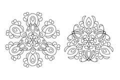 Αραβικό floral mandala διακοσμήσεων Στοκ Εικόνες