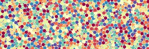 Αραιό σημείο κομφετί watercolor ζωηρόχρωμο στο άσπρο υπόβαθρο χαοτικός κύκλος σχεδίων Λόγος διάστασης 3:1 διανυσματική απεικόνιση