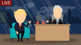 Αργά - η συζήτηση νύχτας παρουσιάζει ελεύθερη απεικόνιση δικαιώματος