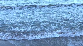 Αργά και ήρεμα κύματα Μαύρης Θάλασσας απόθεμα βίντεο