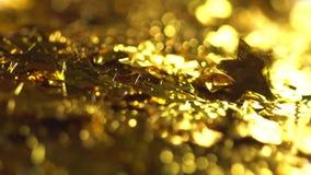 Αργά μειωμένα χρυσά κίτρινα αστέρια απόθεμα βίντεο