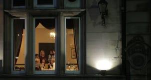 Αργά - συνεδρίαση της νύχτας στο γραφείο απόθεμα βίντεο