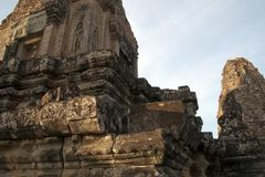 Αργά το απόγευμα άποψη προ Rup ένας ινδός ναός 10ου αιώνα στοκ εικόνες