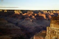 Αργά το απόγευμα ήλιος στο μεγάλο εθνικό πάρκο φαραγγιών, Αριζόνα στοκ φωτογραφία με δικαίωμα ελεύθερης χρήσης