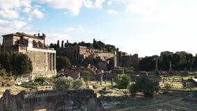 Αργά το απόγευμα στο αρχαίο φόρουμ στη Ρώμη φιλμ μικρού μήκους