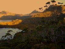 Αργά το απόγευμα στο εθνικό πάρκο βουνών λίκνων στοκ εικόνα