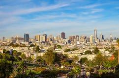Αργά το απόγευμα στο Σαν Φρανσίσκο στοκ φωτογραφίες