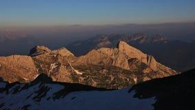 Αργά το απόγευμα στο υποστήριγμα Santis Βουνά των ελβετικών Άλπεων στο s Στοκ εικόνες με δικαίωμα ελεύθερης χρήσης