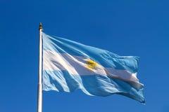 Αργεντινή σημαία κολακείας Στοκ φωτογραφία με δικαίωμα ελεύθερης χρήσης