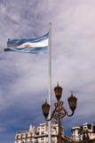 Αργεντινή σημαία, Μπουένος Άιρες, Αργεντινή Στοκ Φωτογραφίες
