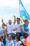 Αργεντινοί ανεμιστήρες ποδοσφαίρου Στοκ φωτογραφία με δικαίωμα ελεύθερης χρήσης