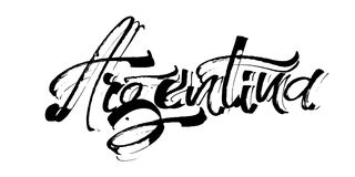Αργεντινοί Σύγχρονη εγγραφή χεριών καλλιγραφίας για την τυπωμένη ύλη Serigraphy Στοκ φωτογραφία με δικαίωμα ελεύθερης χρήσης