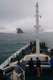 Αργεντινό ερευνητικό σκάφος που επιδιώκει το καταφύγιο από ένα stom Στοκ φωτογραφία με δικαίωμα ελεύθερης χρήσης
