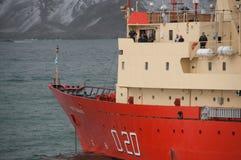 Αργεντινό ερευνητικό σκάφος που επιδιώκει το καταφύγιο από ένα stom Στοκ φωτογραφίες με δικαίωμα ελεύθερης χρήσης