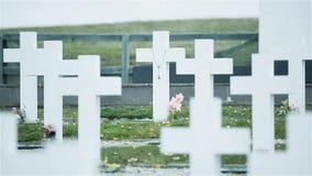 Αργεντινό στρατιωτικό νεκροταφείο Δαρβίνου, Νήσοι Φώκλαντ Islas Μαλβίνη απόθεμα βίντεο