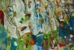Αργυροειδές πράσινο λαμπιρίζοντας λασπώδες κέρινο χρώμα, υπόβαθρο μορφών αντίθεσης στα χρώματα κρητιδογραφιών Στοκ Εικόνες