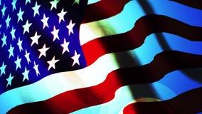 Αργός κυματισμός αμερικανικών σημαιών διανυσματική απεικόνιση