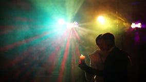 Αργός χορός με το φως ιστιοφόρου απόθεμα βίντεο