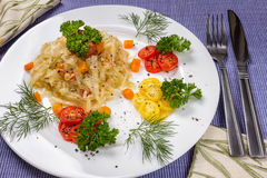 Αργό λάχανο με τα καρότα Στοκ φωτογραφίες με δικαίωμα ελεύθερης χρήσης