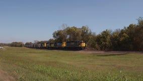 Αργό φορτηγό τρένο στην Οκλαχόμα απόθεμα βίντεο