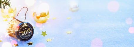 Αρθ. 2018 Χαρούμενα Χριστούγεννα και ευτυχές νέο κόμμα ετών Στοκ εικόνες με δικαίωμα ελεύθερης χρήσης
