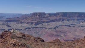 Αριζόνα, μεγάλο φαράγγι, άποψη Α του βόρειου πλαισίου από το νότιο πλαίσιο του μεγάλου φαραγγιού απόθεμα βίντεο