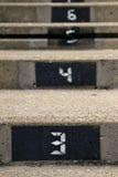 αριθμημένα βήματα Στοκ φωτογραφία με δικαίωμα ελεύθερης χρήσης