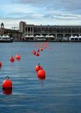 Αριθμημένοι κόκκινοι σημαντήρες Στοκ Εικόνα