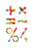 αριθμητικά σημάδια Στοκ φωτογραφίες με δικαίωμα ελεύθερης χρήσης