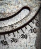 Αριθμητική κλίμακα στο μέταλλο Στοκ φωτογραφία με δικαίωμα ελεύθερης χρήσης