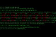 Αριθμητικός συνεχής, abctract στοιχεία στο δυαδικό κώδικα, δίνει την κατάρριψη τεχνολογίας στοκ φωτογραφία